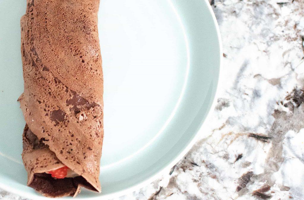 Easy Vegan Chocolate Crepes