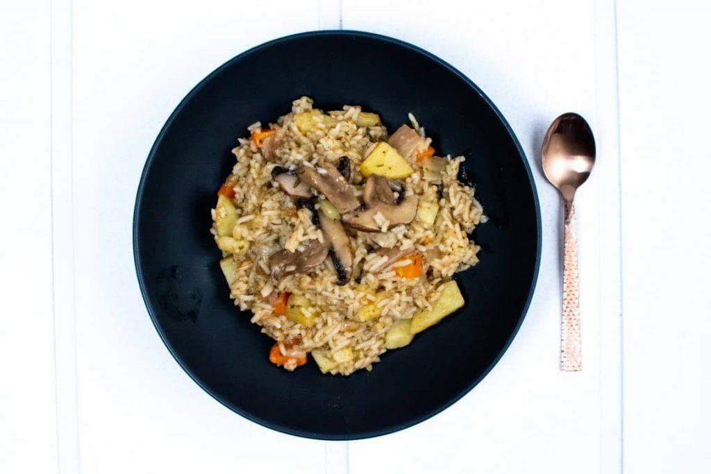 One Pot Hearty Mushroom Rice