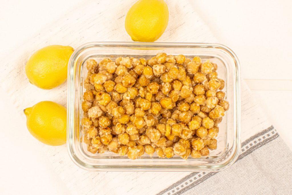 Vegan Breaded Lemon Chickpeas