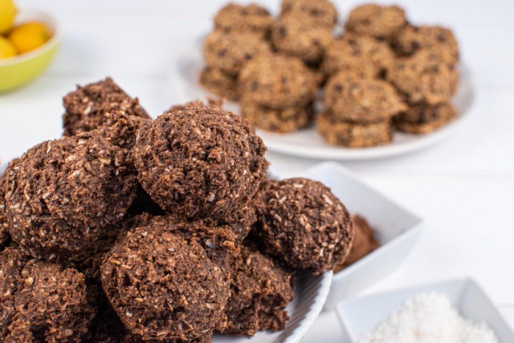 Chocolate Coconut Oat Flour Cookies