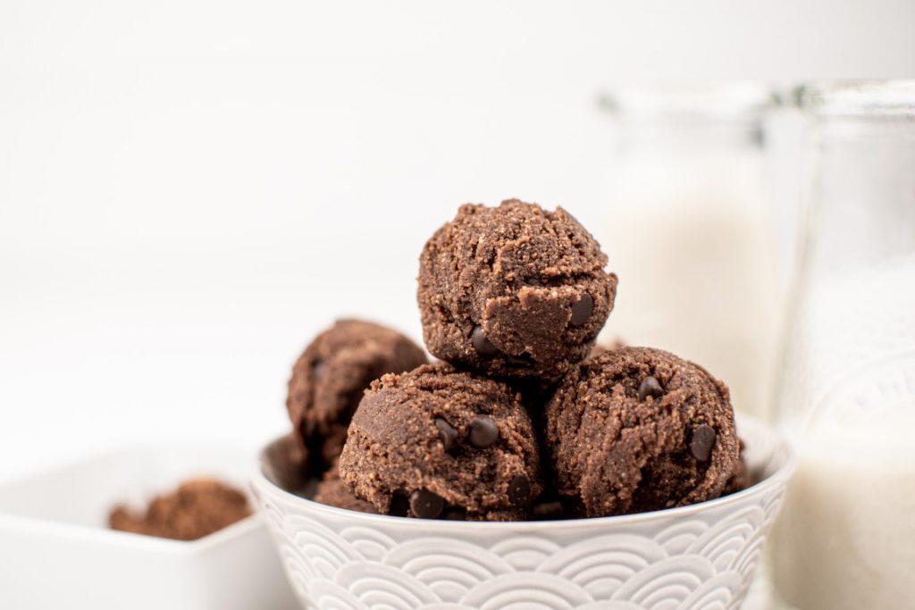 Peppermint Cookie Dough Balls