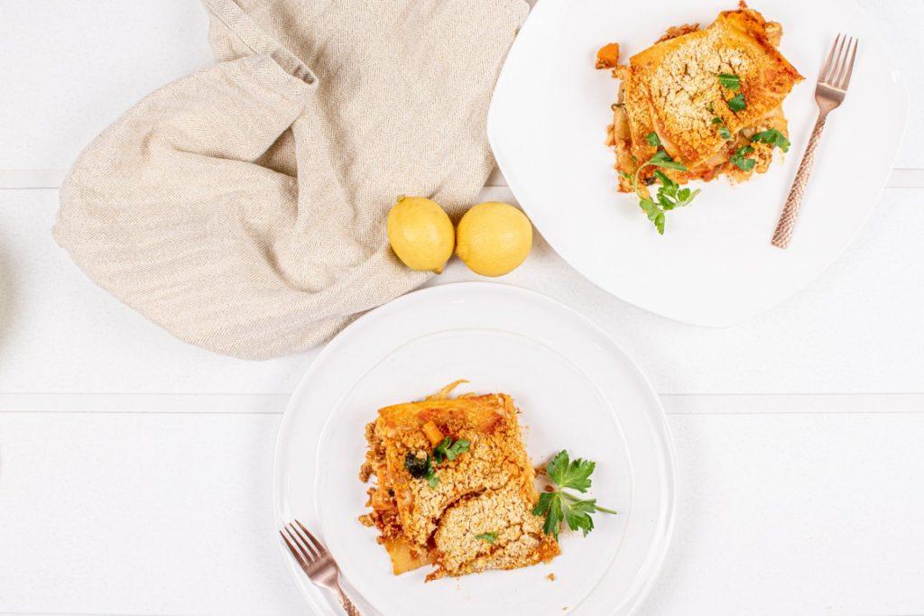 Easy Crumbled Tofu Lasagna