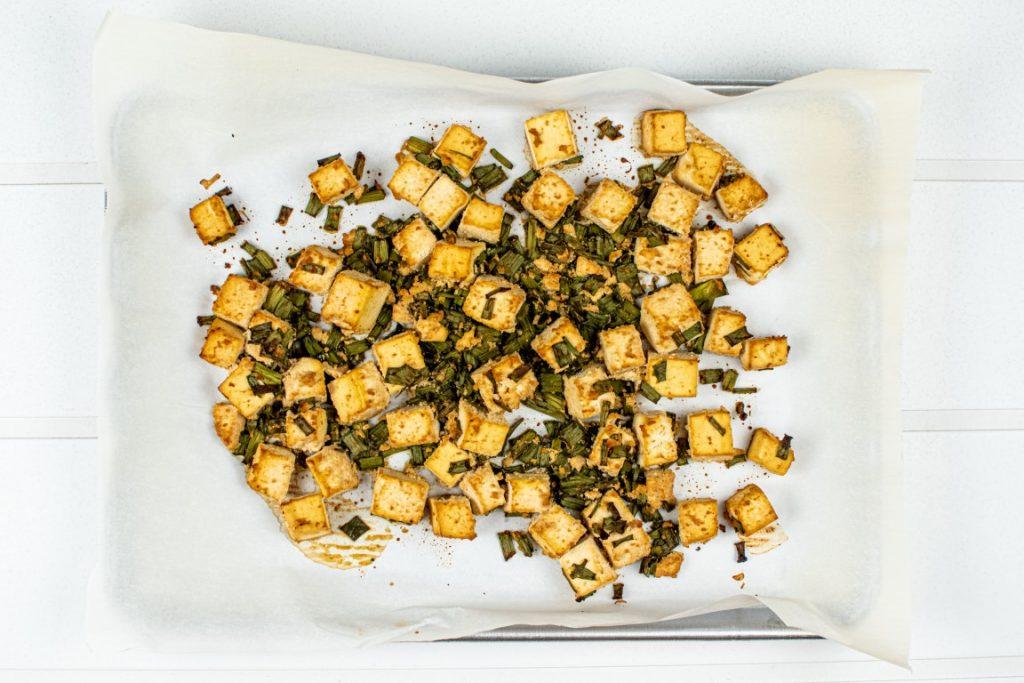 Baked Green Onion Tofu
