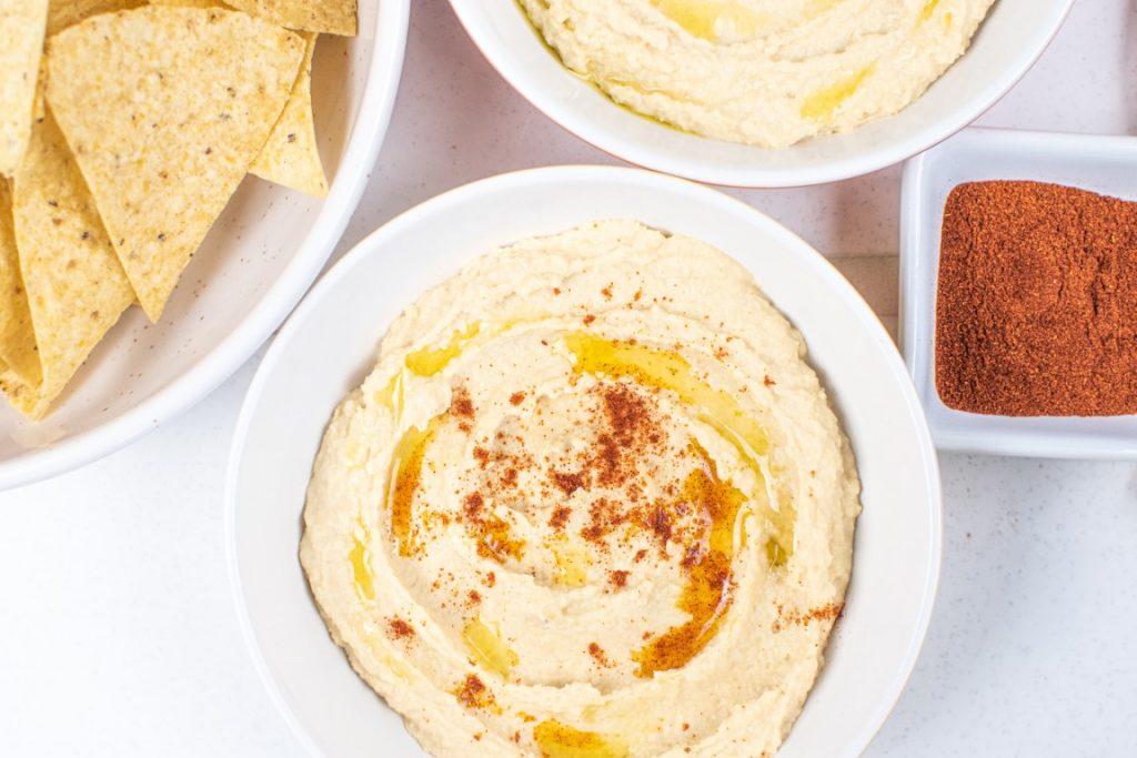 Healthy Whipped Garlic Hummus