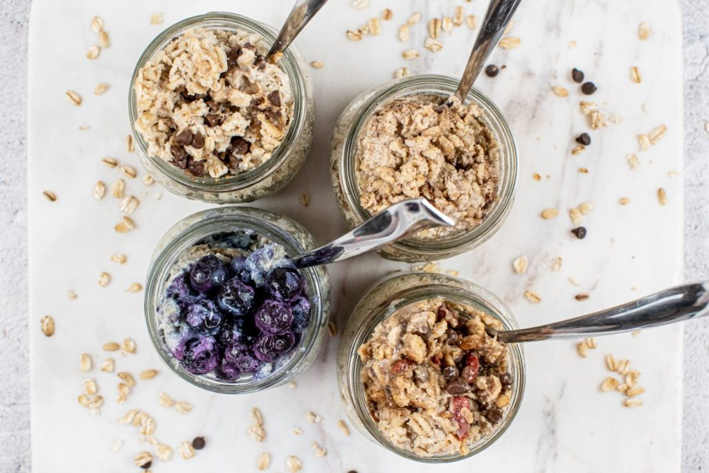 Peanut Butter Chocolate Chip Soaked Oats