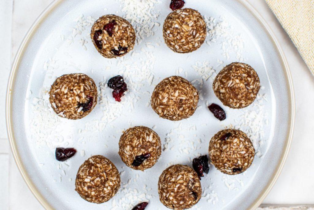 Coconut Cranberry Energy Balls