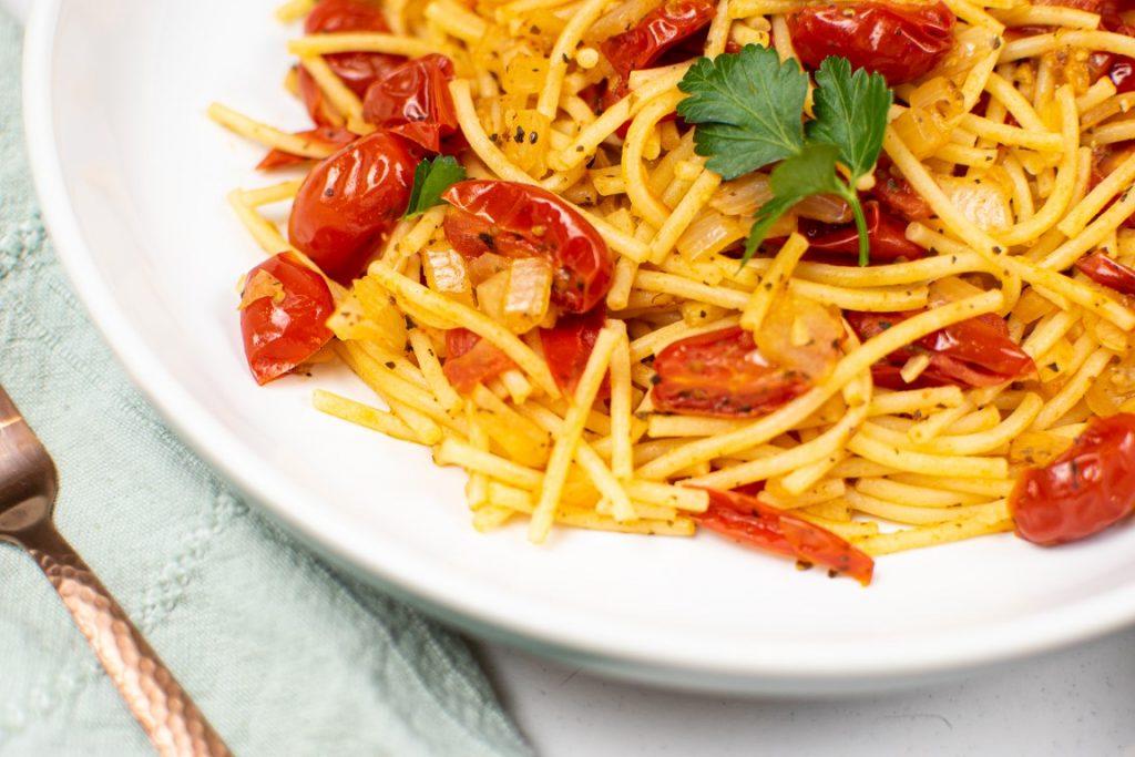 Burst Tomato Basil Pasta