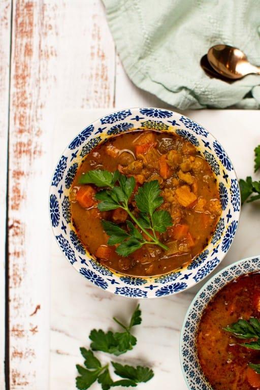 Sweet Potato & Chickpea Soup