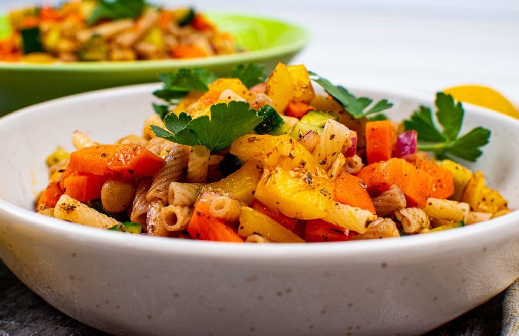 Mediterranean Chickpea Pasta Salad